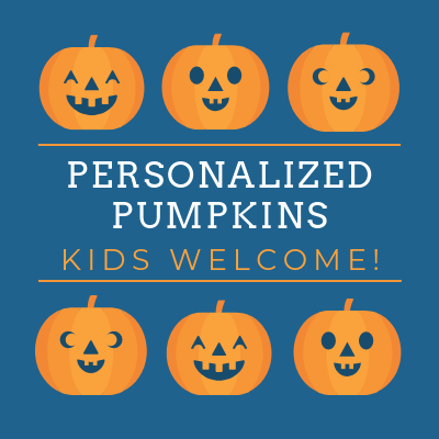 Personalized Pumpkins - Kids Welcome